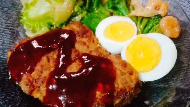 ずぼら飯ハンバーグ